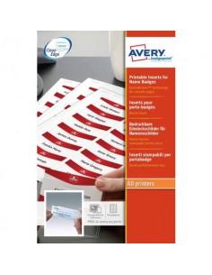 Inserti per badge Avery bianco 200 g/m² 37x75 mm Laser e inkjet 14 et./foglio Conf. 10 fogli - 7537