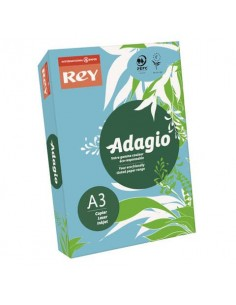 Carta colorata A3 INTERNATIONAL PAPER Rey Adagio blu tenue 48 risma 250 fogli - ADAGI160X483