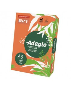 Carta colorata A3 INTERNATIONAL PAPER Rey Adagio arancio 21 risma 500 fogli - ADAGI080X673