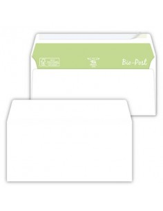Buste senza finestra Pigna Envelopes Bio Post 90 g/m² 110x230 mm bianco Conf. 50 buste - 0221337