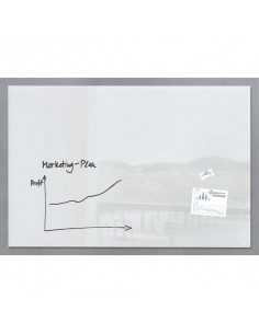 Lavagna magnetica in vetro Artverum SIGEL 1500x1000x18 mm bianco RGL220