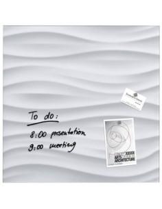 Lavagna magnetica in vetro Artverum SIGEL 480x480x15 mm White Wave RGL256