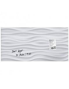 Lavagna magnetica in vetro Artverum SIGEL 910x460x15 mm White Wave RGL260