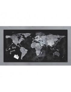Lavagna magnetica in vetro Artverum SIGEL 910x460x15 mm Worldmap RGL270