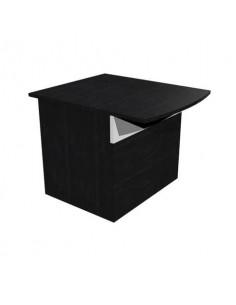 Reception Artexport Musa 80x97,5x72 basso nero ven. frassino-bianco 2824-HB80-83