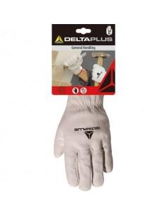 Guanti da lavoro Delta Plus pelle pieno fiore di bovino bianco taglia 10 DPFBN4910