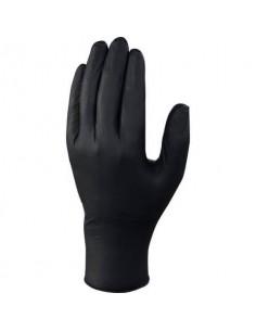 Guanti monouso Delta Plus Venitactyl nero nitrile non talcato taglia 8/9 Conf. 100 pezzi - V1450B10008