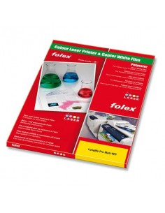 Film antistrappo Folex Longlife Pro Matt WO poliestere bianco opaco 0,19 mm A4 Conf. 100 pezzi - 29738.190.44000