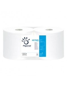 Asciugatutto Industriale Papernet Ecolabel - 800 strappi - 2 veli Conf. 2 rotoli - 407565