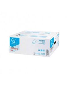 Asciugamano intercalato Papernet 22x21 cm piegato a V - 2 veli fascetta da 210 fogli - 411176