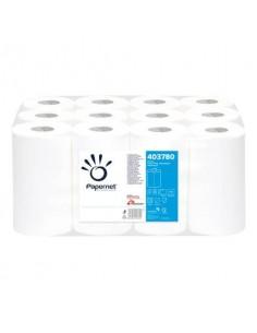 Asciugamani in Rotolo a devolgimento Papernet - 163 strappi - 2 veli - 21,4x35 cm - Conf. 12 pezzi - 403780