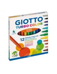Pennarelli GIOTTO Turbo Color punta fine 2,8 mm assortiti astuccio da 12 - 416000