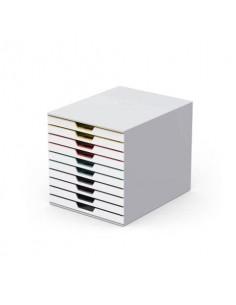 Cassettiera DURABLE Varicolor® 10 cassetti 28x35,6x29,2 cm profili colorati - 63027