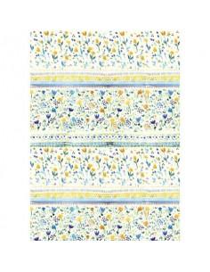 Carta da regalo Kartos Everyday 70x100 cm mod. Fiori Azzurri e Gialli Conf. 10 fogli - 18881300B10