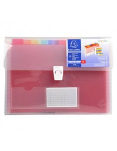 Classificatore Crystal Colours 33x25 cm - 13 scomparti - cristallo 55298E