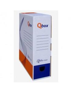 Scatola archivio in cartone QBOX 25x33 cm - dorso 9 cm bianco 8109.1600