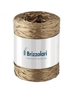 Nastro in rafia sintetica Brizzolari 5 mm x 200 mt oro 6802.33