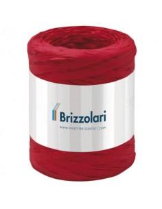 Nastro in rafia sintetica Brizzolari 5 mm x 200 mt rosso 6802.07