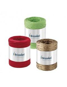 Nastro in rafia sintetica Brizzolari 5 mm x 200 mt verde 6802.10