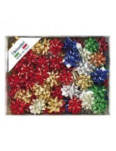 Stelle adesive per pacchi regalo Brizzolari 10 mm Ø 50 mm assortiti lucido conf. 100 - B.15