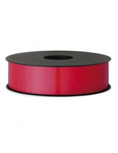 Nastro da regalo in rocchetto Brizzolari 10 mm x 250 mt rosso opaco conf. 4 pezzi - B.3 ROSSO