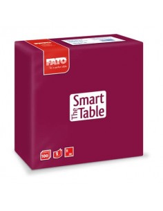 Tovaglioli Fato The Smart Table 38x38 cm bordeaux Conf. 100 pezzi - 82140800