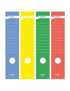 Copridorso autoadesivi Sei Rota CDR-C 7x34,5 cm giallo Conf. 10 pezzi - 58012706