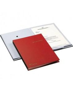 Libro Firma Fraschini 18 intercalari con fori rosso 618-A-DR