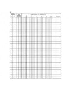 Registro corrispettivi registratori di cassa data ufficio - 46 fogli 31x24,5 cm DU138610000