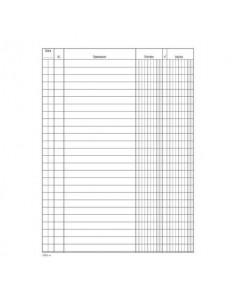 Registro entrate-uscite Data Ufficio 100 pagine - 24x17 cm DU133110000