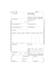 Lettera di vettura internazionale (CMR) data ufficio snap out-21x31 cm 5x2 copie autoricalcanti - cf 50 pezzi DU183160000