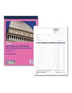 Blocco fatture di cortesia data ufficio 21,5x14,5 cm 33x2 copie autoricalcanti DU16413FE00