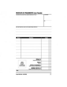 Ricevuta di pagamento B&B/Affittacamere data ufficio - blocco 25x2 copie autoricalcanti 16,8x10 cm DU16257B250