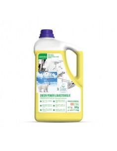Detergente alcalino concentrato per lavastoviglie Green Power Sanitec 6 kg 4017