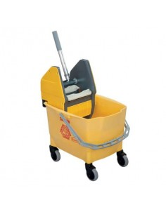 Carrello pulizia monovasca Rubbermaid Combo Bravo (Secchio da 25 l + Strizzatore) giallo - R014152