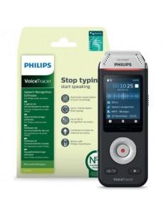 Registratore vocale digitale PHILIPS VoiceTracer 2810 nero/argento DVT2810