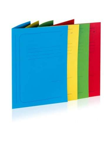 BREFIOCART 12 cartelline 3 lembi 200gr 25x33cm mix 6 colori brefiocart