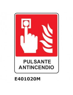 "Cartello antincendio ""Pulsante antincendio'' 25x31 cm Dixon Industries E401020M"