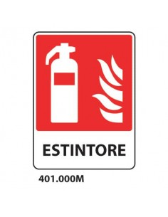 "Cartello antincendio ""Estintore"" 25x31 cm Dixon Industries 401.000M"