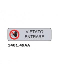 """Cartello adesivo per interni """"Vietato entrare"""" 17x4,5 cm Dixon Industries conf. 15 pezzi - 1401.049AA"""