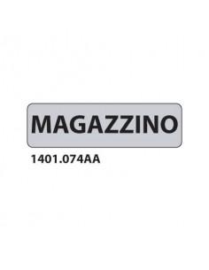 """Cartello adesivo per interni """"Magazzino"""" Dixon Industries 17x4,5 cm Conf. 15 pezzi - 1401.074AA"""