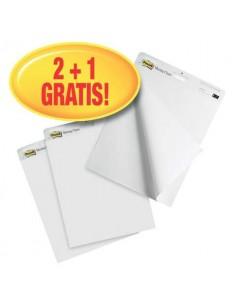 Blocchi lavagna Post-it® Meeting Chart bianco 63,5x77,5 cm 30 fogli Promo Pack 2+1 GRATIS - 7000081684