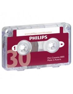 Mini cassette per registratori analogici 2x15 min PHILIPS nero/rosso LFH0005