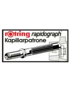 Cartucce di ricambio Rapidograph Rotring - nero - S0194640 (conf.3)