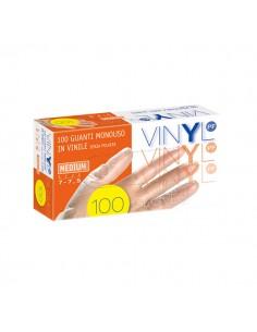Guanti in vinile Icoguanti - L - bianco trasparente - EVL VINYL L (conf.100)