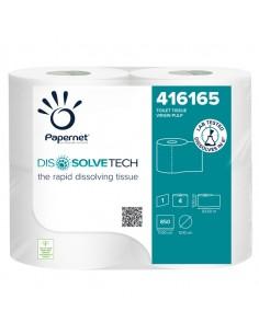 Carta Igienica Papernet DissolveTech - 1 veli - 850 strappi - 416165 (conf.4)