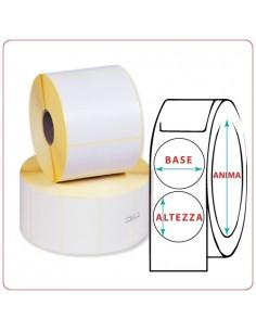 Etichette adesive in rotoli - 106X106 mm - Vellum - Tonda - Anima ¯ mm 25 - 40 - 50 - 76
