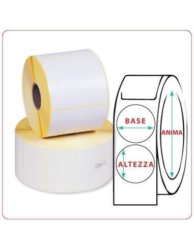 Etichette adesive in rotoli - 69X69 mm - Termica - Tonda - Anima Ø mm 25 - 40 - 50 - 76