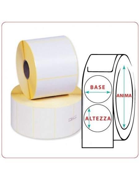 Etichette adesive in rotoli - 75X75 mm - Vellum - Tonda - Anima Ø mm 25 - 40 - 50 - 76