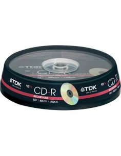 CD TDK - Spindle - CD-R - 52x - t19539 (conf.10)